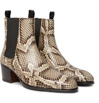 Tom Ford Python Chelsea Boots Brown