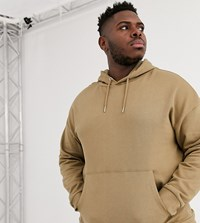 Only And Sons Oversized Hoodie Sweat In Camel Tan