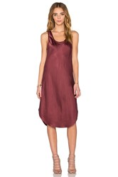 Kes Silk Tank Dress Wine