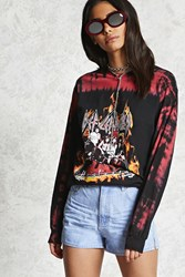 Forever 21 Def Leppard Band Tee Black Red