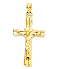 Macy's 14K Gold Charm Reversible Crucifix Cross Charm