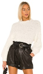 1.State 1. State Poodle Texture Sweater In Ivory. Antique White