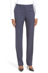 Boss Women's Tamea Wool Straight Leg Wool Suit Pants