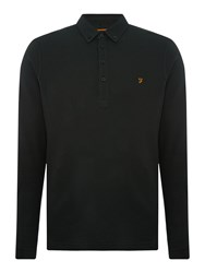 Farah Merriweather Regular Fit Long Sleeve Polo Shirt Dark Green
