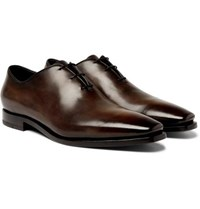 Berluti Alessandro Eclair Whole Cut Leather Oxford Shoes Brown