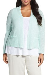 Eileen Fisher Plus Size Women's Organic Linen And Cotton Crop Cardigan