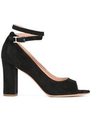 Unutzer Peep Toe Pumps Black