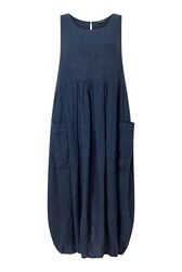 James Lakeland Linen Pockets Dress Blue