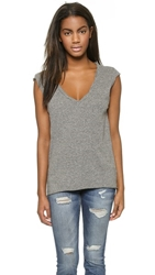 Pam And Gela Pocket Muscle Tee Heather Grey