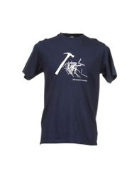 Aspesi Short Sleeve T Shirts Dark Blue