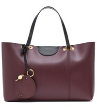 See By Chloe Marty Leather Tote Purple