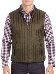 Michael Kors Quilted Down Vest Fatigue Brown