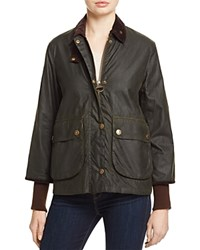 Barbour Border Cropped Mac Coat 100 Bloomingdale's Exclusive Sage