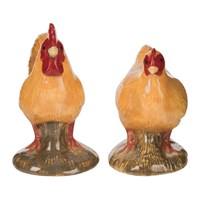 Quail Ceramics Chicken Salt And Pepper Shakers Buff Orpington