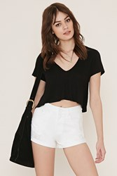 Forever 21 Cuffed Distressed Denim Shorts