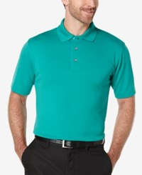 Pga Tour Men's Big And Tall Golf Performance Airflux Polo Pepper Green