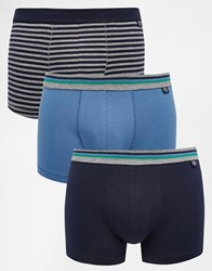 Esprit 3 Pack Trunks With Stripe Blue