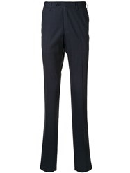 Corneliani Slim Fit Tailored Trousers Blue