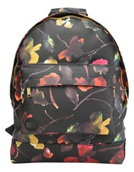 Mi Pac Watercolour Floral Backpack Black