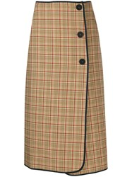 Sofie D'hoore Houndstooth Check Skirt Brown