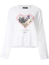 Undercover Graphic Love Heart Sweater White