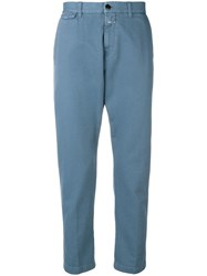 Closed Cropped Chino Trousers Blue