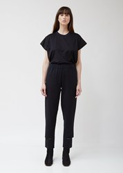 Nehera Provin Washed Denim Wool Trousers Black