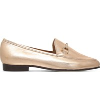 Carvela Loss Leather Loafers Gold