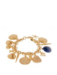 Rosantica By Michela Panero Abissi Seashell Charm Bracelet Yellow Gold