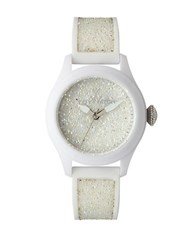 Toy Watch Ladies' Swarovski Crystal And Silicone White