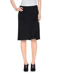 Ice Iceberg Skirts Knee Length Skirts Women Black