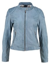 Gipsy Leather Jacket Air Blue