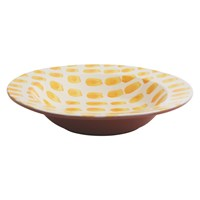 Habitat Alegra Large Hand Decorated Serving Bowl Yellow
