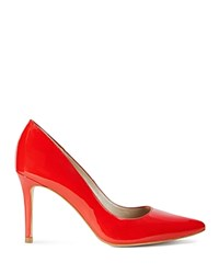 Karen Millen Patent Leather Pointed Toe Court Pumps Red