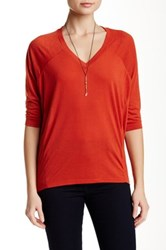 Dex 3 4 Length Sleeve Tee Orange