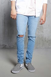 Forever 21 Distressed Slim Fit Jeans