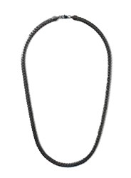 Topman Gunmetal Look Chain Necklace Silver