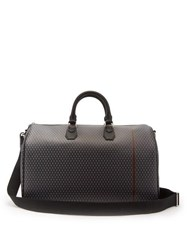 Dunhill Engine Turn Technical Canvas Holdall Grey