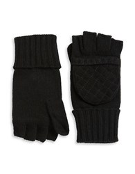 Lauren Ralph Lauren Wool Blend Convertible Mittens Black