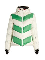 Perfect Moment Super Dry Quilted Down Jacket White Green