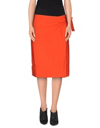 Fabrizio Lenzi Skirts Knee Length Skirts Women Coral