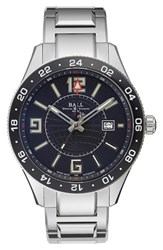 Ball 'Engineer Master Ii' Bracelet Watch 44Mm Silver Black