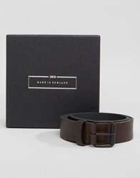 Asos Made In England Leather Belt Brown Brown
