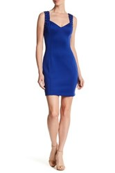 Guess Eyelet Strap Sweetheart Dress Blue