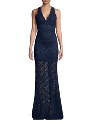 Jump Glitter And Lace Gown Navy