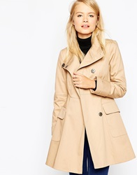 Asos Mac With Funnel Neck Camel