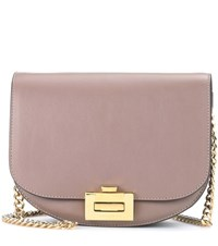 Victoria Beckham Box With Chain Leather Shoulder Bag Grey