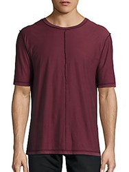 Blk Dnm Inside Out Solid Tee Burgundy