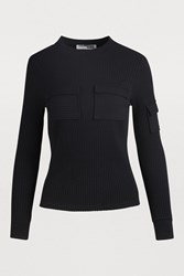 Courreges Patch Pocket Top Noir