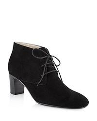 Hobbs London Patricia Lace Up Booties Black